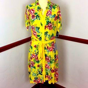 NWT ECI NEW YORK FLORAL DRESS